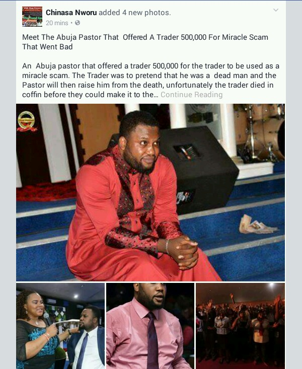 Man Dies In Coffin After Abuja Pastor Paid Him N500k For Miracle Scam""