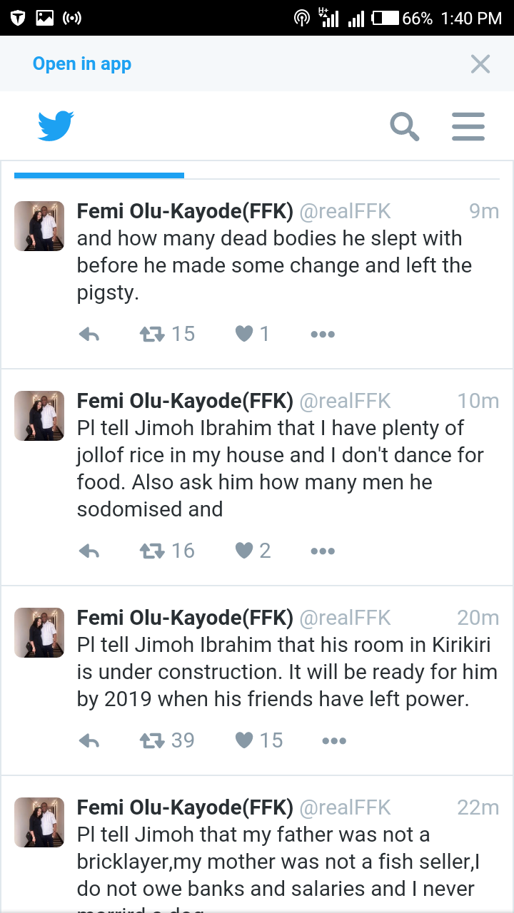 MUST READ!!! FANI KAYODE REVEALS HOW ONDO GOV ASPIRANT JIMOH IBRAHIM SLEEPS IN COFFIN, HAS OVERSTRETCHED AN*S