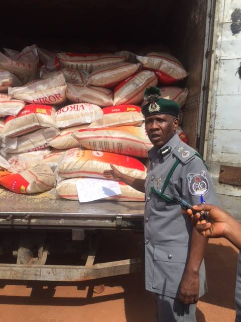 Image result for photos of nigerian customs and goods they seized