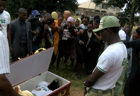 SO SAD!! TEARS FLOWED AT THE BURIAL OF BEAUTIFUL YOUTH CORPER IFEDOLAPO OLADEPO WHO DIED IN KANO NYSC CAMP (PHOTOS)