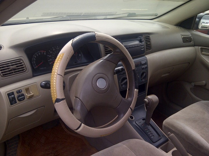 Clean registered toyota corolla 2003 model available autos nigeria for Toyota corolla 2003 interior