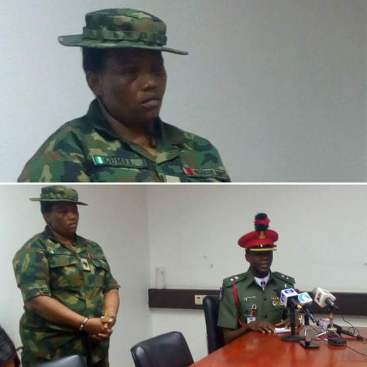 Fake Female Soldier, Who Was Arrested In Abuja, Stands Trial (Photos)