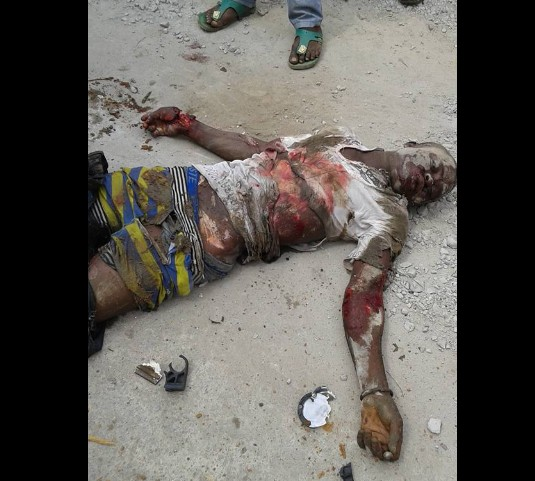 Truck Crushes Bottled Water Seller To Death In Imo (Graphic Photos)