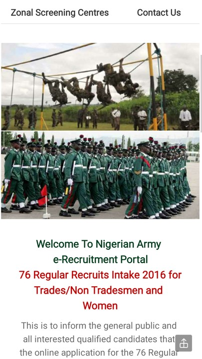 Nigerian Army Recruitment Form Is Out - Career - Nigeria