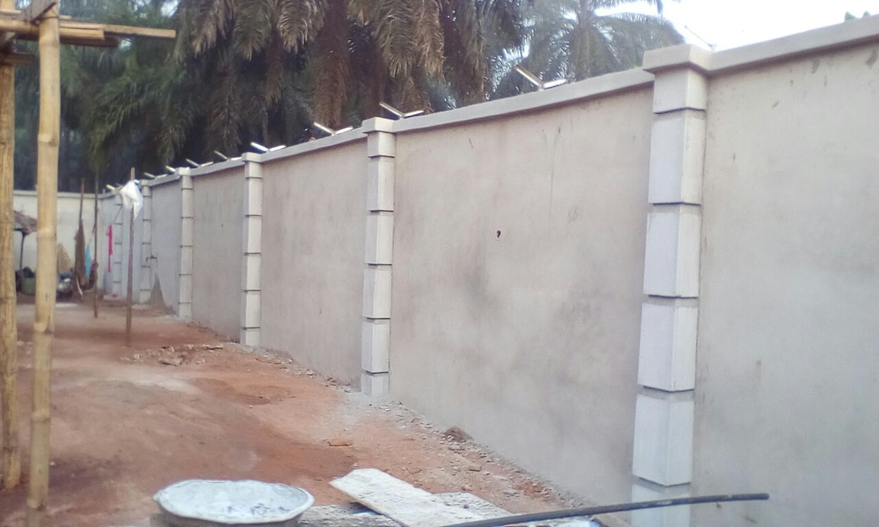 Fence plastering completed see pictures
