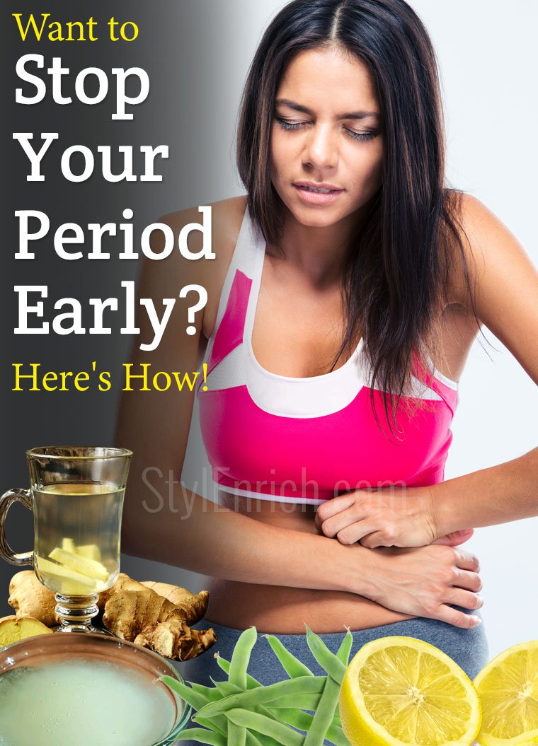 how to stop your period