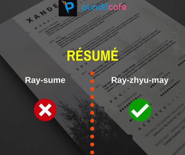Correct way to pronounce resume