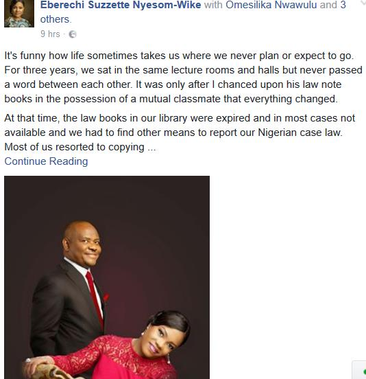 17th Anniversary Gift For Wife: Wike And Wife Celebrate 17th Marriage Anniversary Today