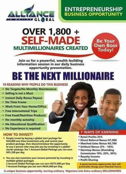 Life Changing Business Opportunity - Investment - Nigeria