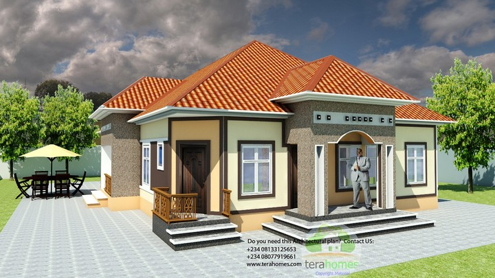 This 4 Bedroom Bungalow Contains The Following: Spacious Living Room.  Visitoru0027s Lounge. Dinning, Kitchen, Store, Laundry, Study,gymn, Sitout,  Front Porch, ...