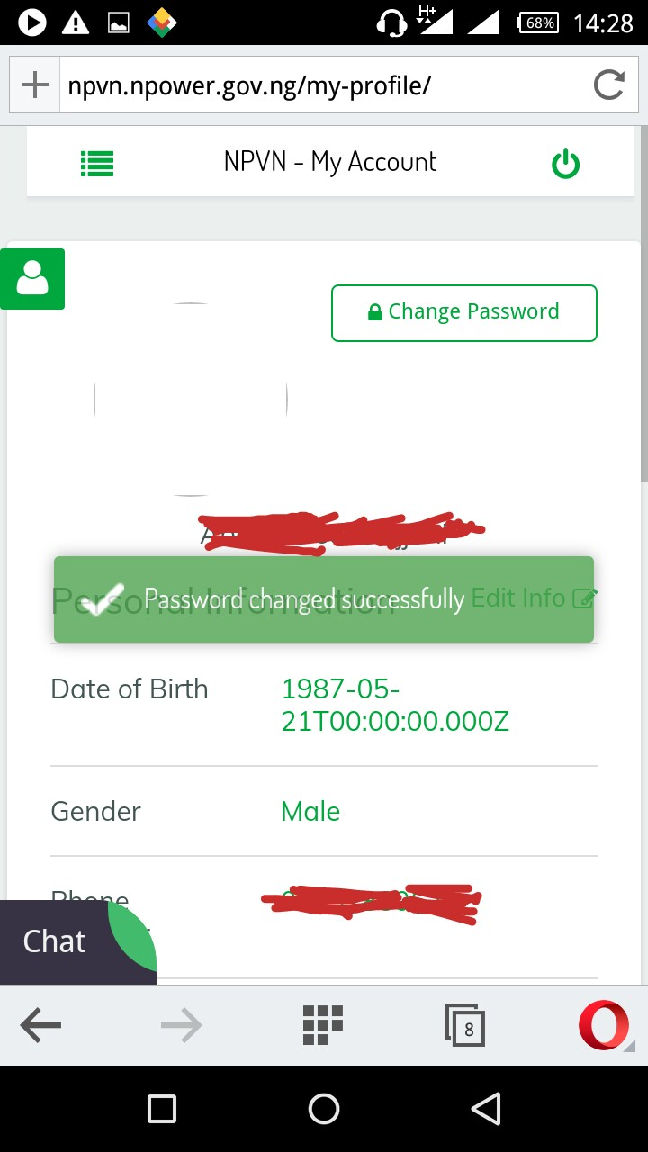 npower you can now change your password pics jobs vacancies modified pls no one should try changing their password for now the new password changed to is showing error take note all