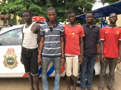 RRS Nabs Five In-Traffic Robbers In Lagos (Photo)