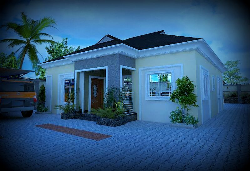 How much will it cost to design and build twom 3 bedroom bungalow properties nigeria for How much to build a 5 bedroom house