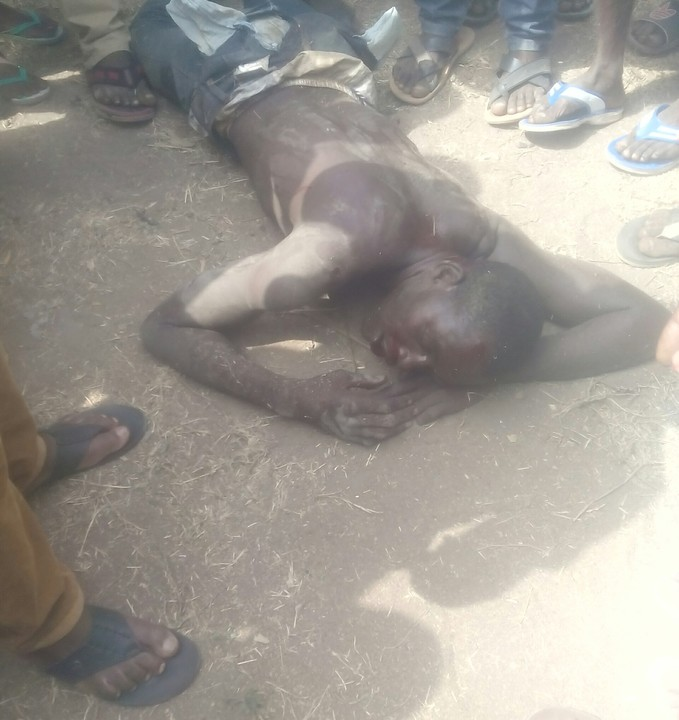Man Beaten To Stupor For Stealing A Motorcycle In Benue State (Photos)