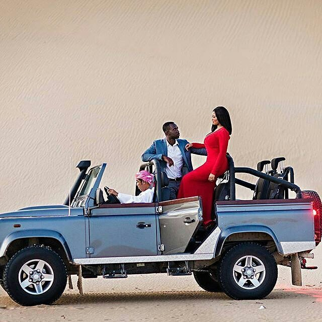 See The Pre-Wedding Photos Of A Nigerian Lady And A Ghanaian Man Shot In The Desert.