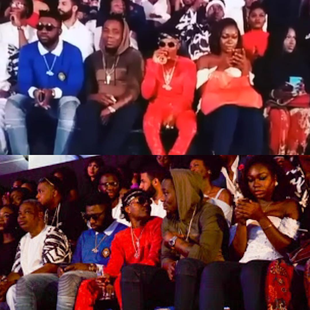 """Wizkid Changes Seat To Prevent Lady From Taking Pictures With Him"" ( Pics )"
