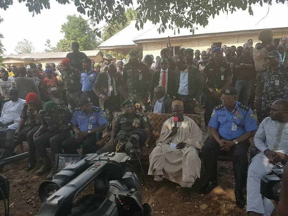 Inspector General Of Police Storms Kafanchan Over Mass Killings In Kaduna.Photos