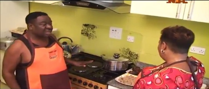 Mr. Ibu Shows Off His Cooking Skills As He Cooks Egusi Soup (Photos)