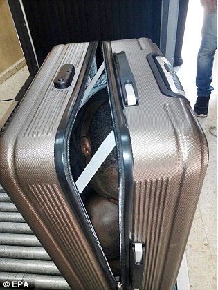 Teenage Boy Packaged Into A Suitcase, To Be Smuggled Into Spain (Photos)