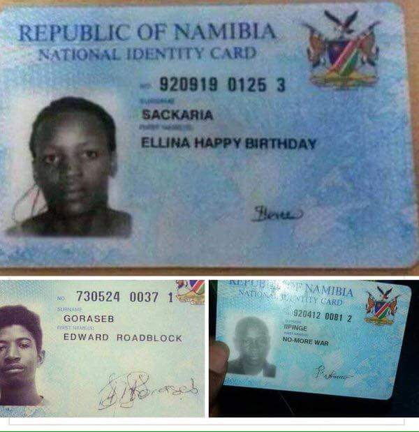 Funny Unusual Names: Funny Names Zambian And Namibian Parents Give Their
