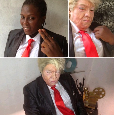 Nigerian Makeup Artiste Transforms Woman To Donald Trump (Photos)  - Art, Graphics & Video