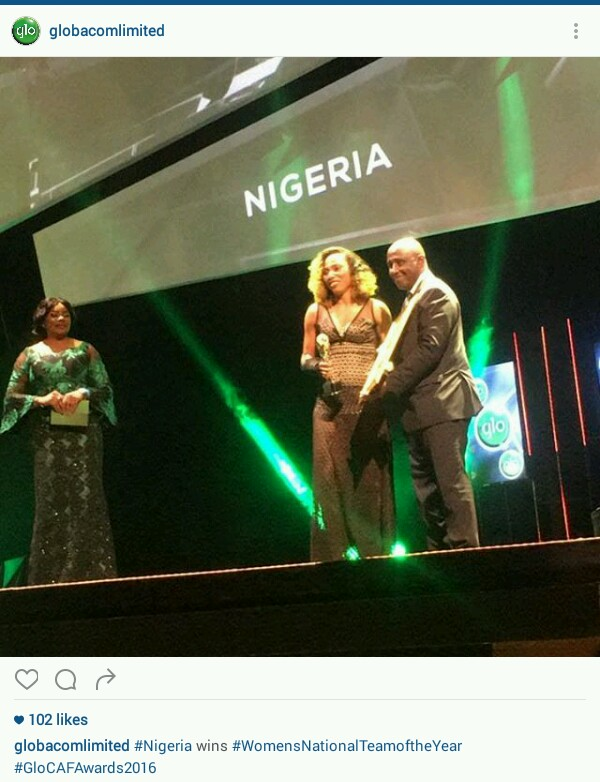 [Photos] Iheanacho, Alex Iwobi & Super Falcons Win Big At GloCAF Awards