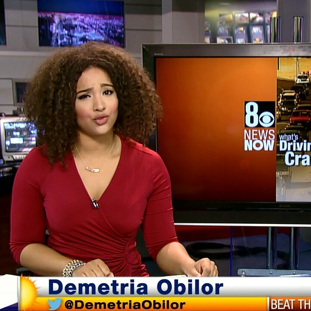 Viral Breaking News Stunning And Adorable Photos Of Maine: Demetria Obilor, The Nigerian-American Traffic Reporter