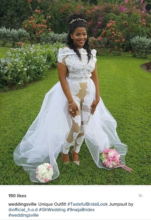 Ladies, Would You Wear This Jumpsuit Wedding Gown? - Fashion - Nigeria