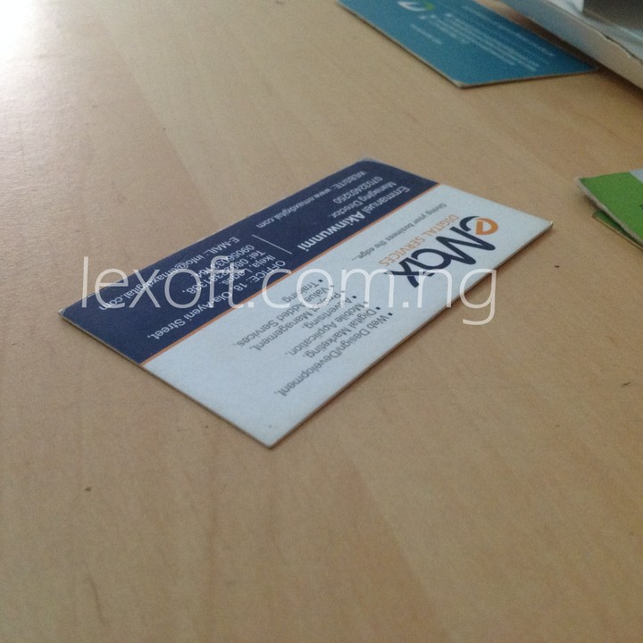 Where To Design And Print Business Card In Lagos 09080906018