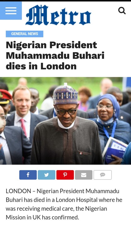 President Buhari Didn't Die In London, He's Alive – Shehu Reacts To Rumored Death