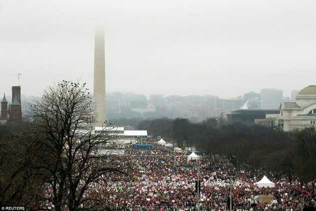 2.5m Crowd Marching Against Trump In US