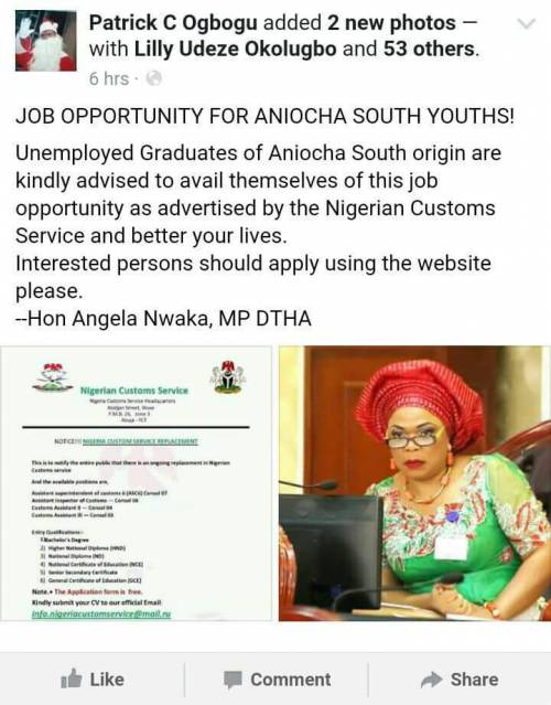 Delta Lawmaker In Fake Customs Recruitment Scam, May Be Arrested (Photo)