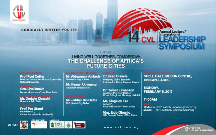 Invitation To 14th Cvl Annual Lectureinternational Symposium