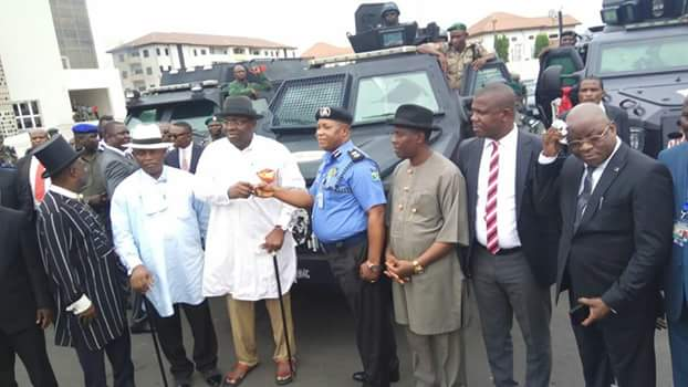 Image result for Bayelsa govt. hands four Armoured Personnel Carrier to police command