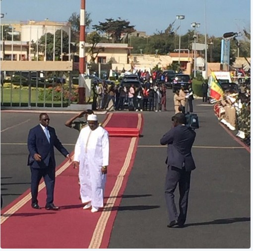 President Adama Barrow Lands In Gambia Amid Tight Security. Photos