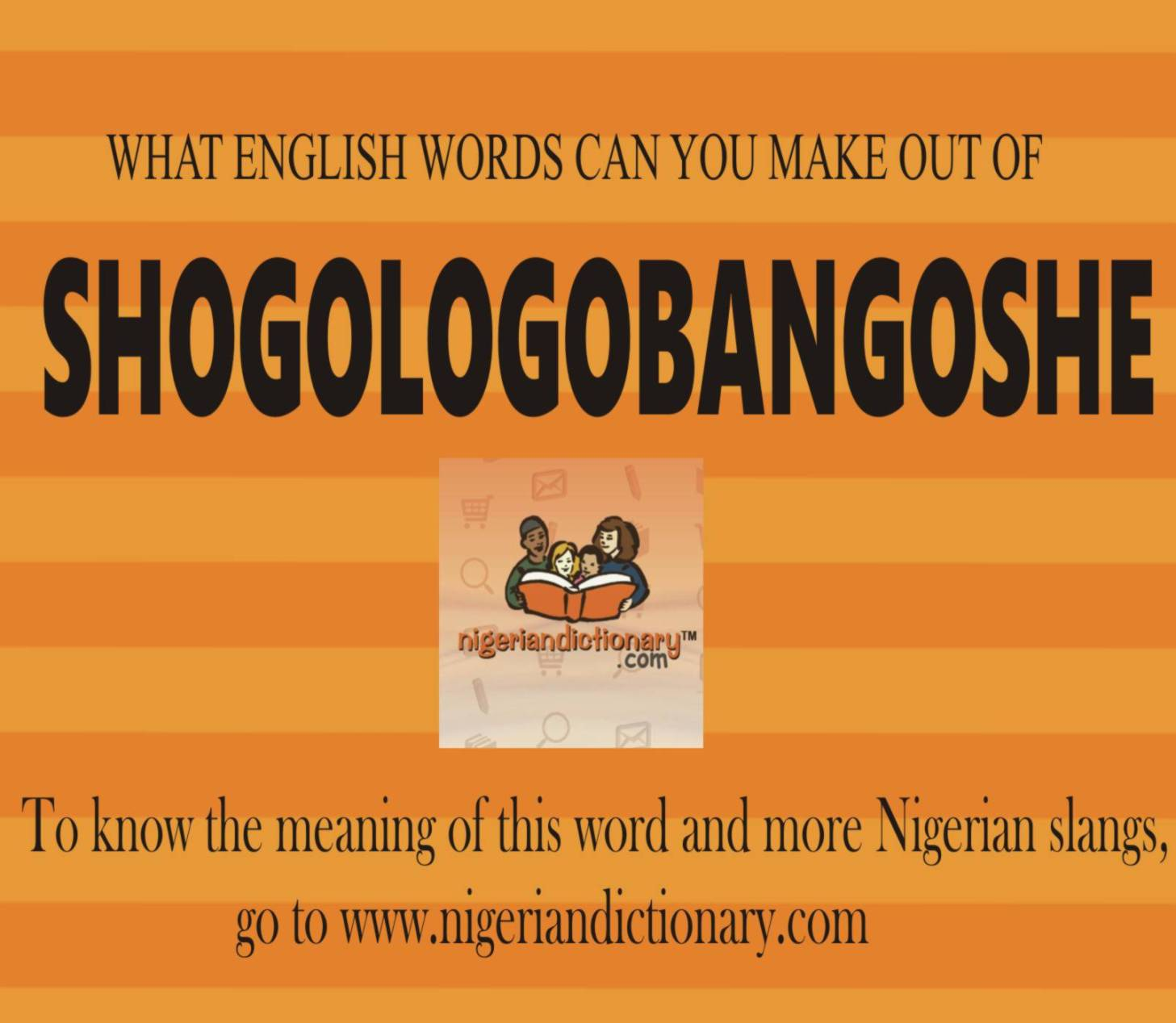 Nigerian slang words