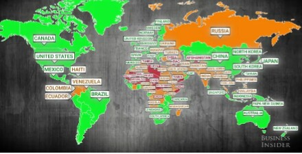 Map of most dangerous countries to travel to in the world see 1 like 2 shares gumiabroncs Images