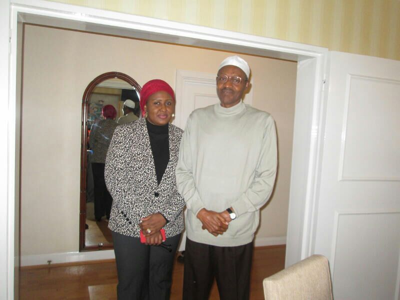 New Pictures Of Buhari And Wife In London Yesterday