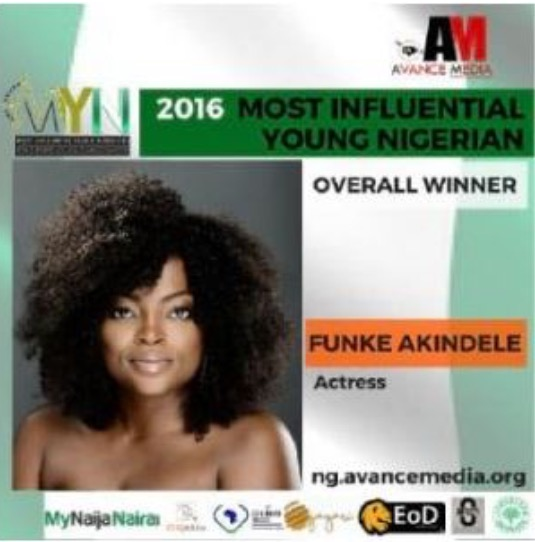 Funke Akindele Voted 2016 Most Influential Young Nigerian (See Full List)
