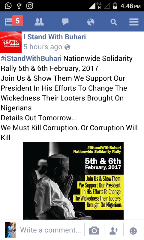 4814311_screenshot20170201164857_pngc5b5d9626b9a21dab7add303a76f69eb I Stand With Buhari Rally To Hold Alongside 2face's Protest (Pics)