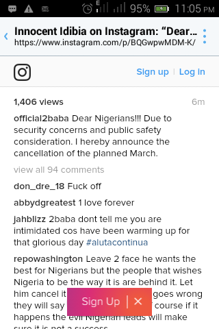 [Pics/video] Tuface Cancels Feb 6 National March Protest
