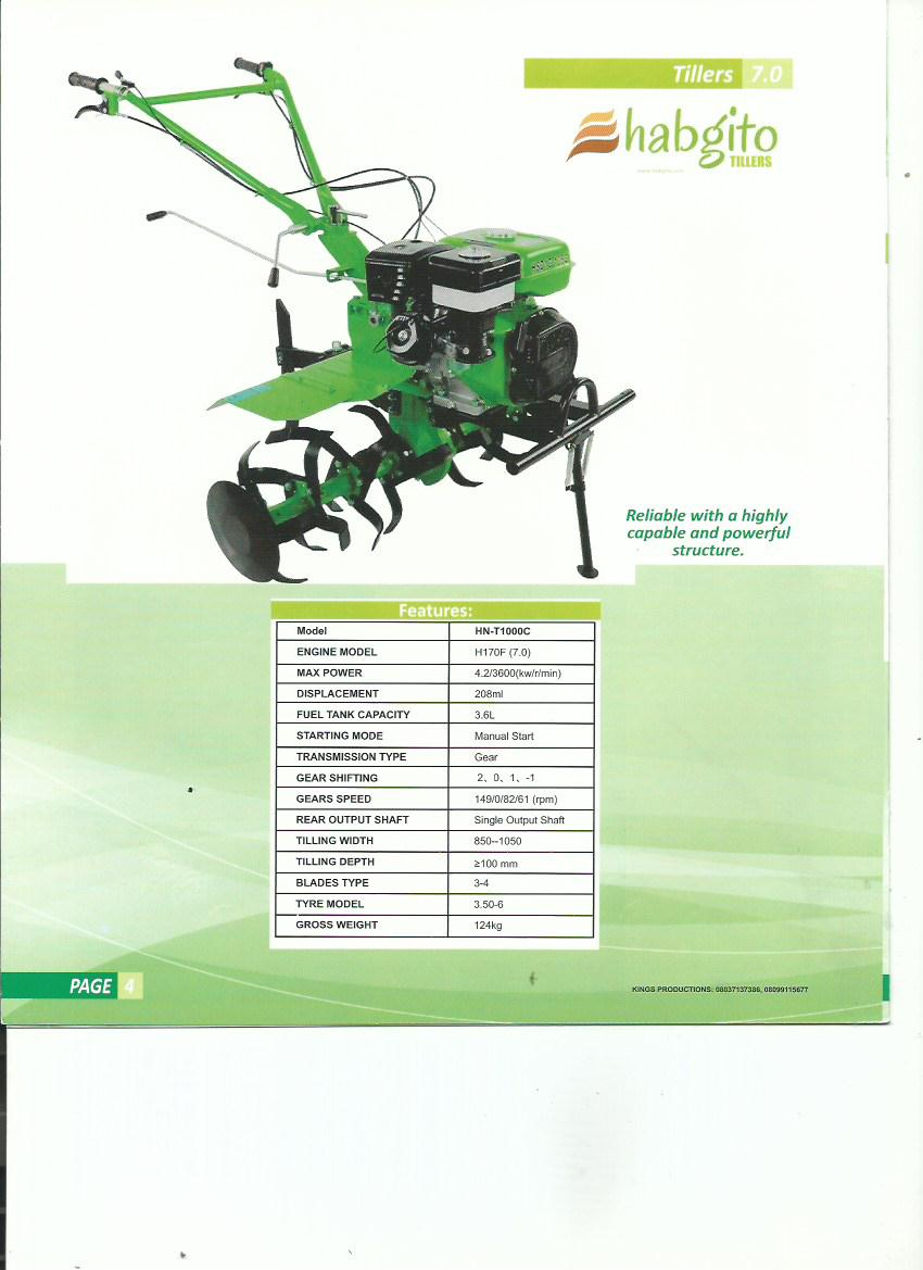 Habgito Nigeria Limited Presents: The Hand Tiller. - Agriculture ...