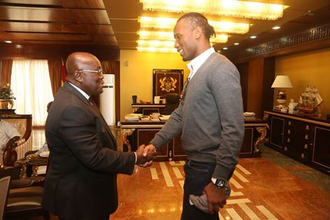Didier Drogba Pays Surprise Visit To Ghana