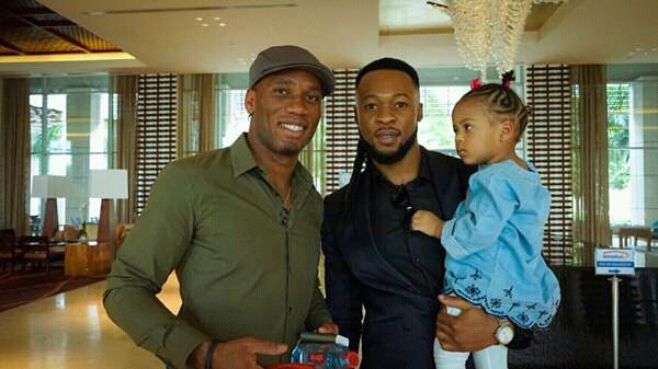 Singer Flavour And His Daughter Hangs Out With Didier Drogba (Photo