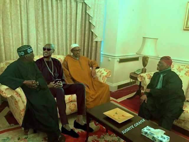 BREAKING NEWS: 2 FACE visites Buhari in london (see photo)