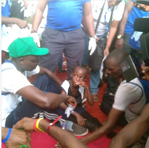 See The 7-Year-Old Nigerian Girl Who Completed 2017 Lagos City Marathon (Photos)