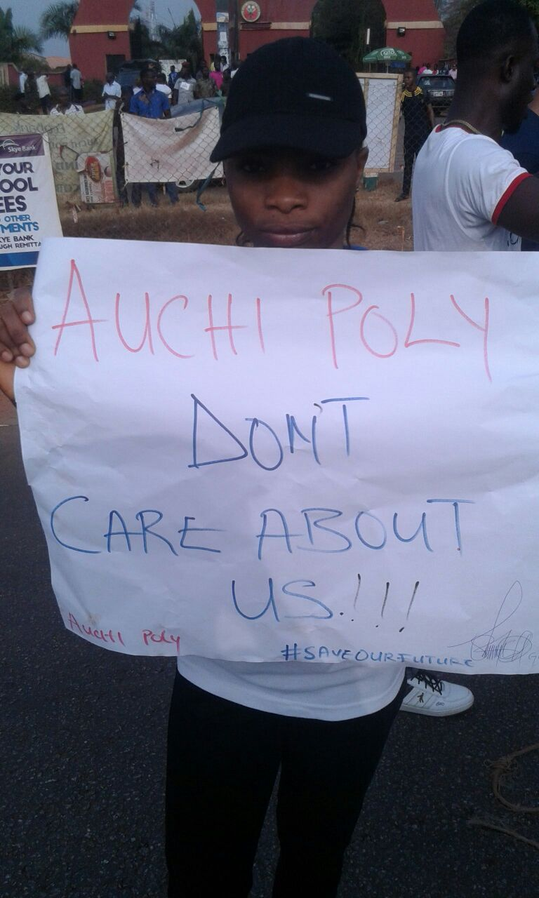 Auchi Poly Students Protest Over Strike