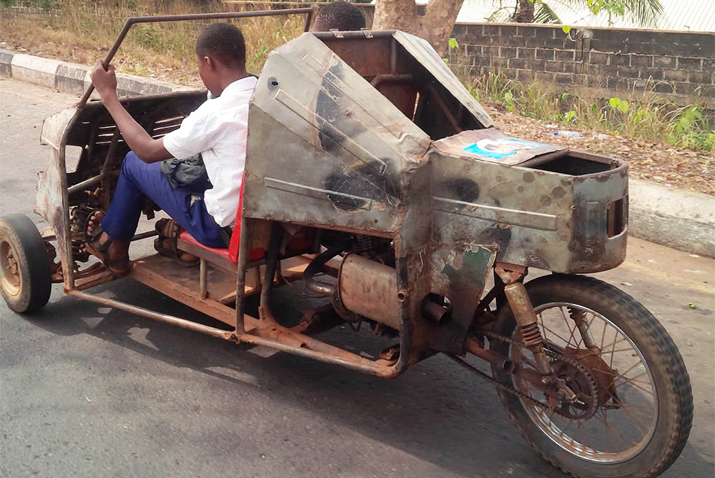 Checkout This Locally made Vehicle Spotted In Enugu State