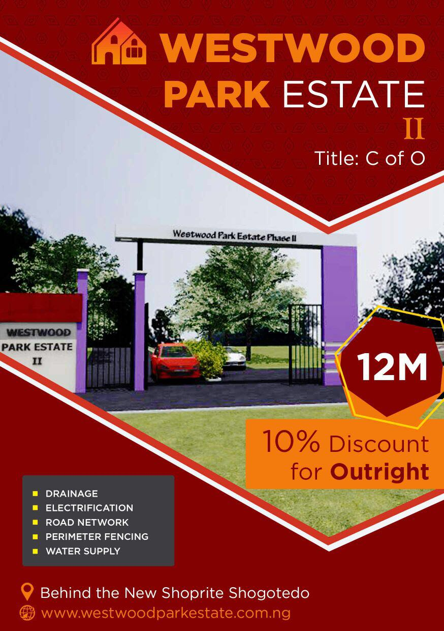 Secure a plot in westwood park estate phase 2 c of o for Westwood park