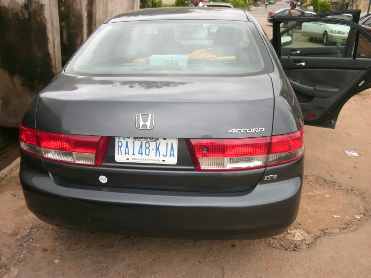 Re: Registered 2003 Honda Accord (v6 Engine, Leather Interior,very Clean  And Tite!) By Olanshi(m): 5:44pm On Jul 22, 2011